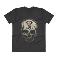 Sigil of Lucifer V-Neck T-Shirt