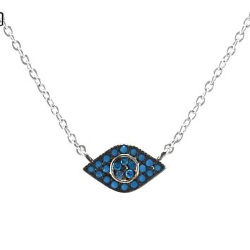 Lolianan Evil Eyes Turquoise Pendant Necklace