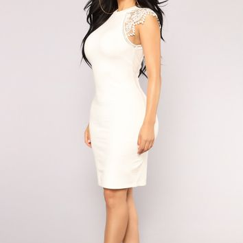 Dasia Lace Dress - White