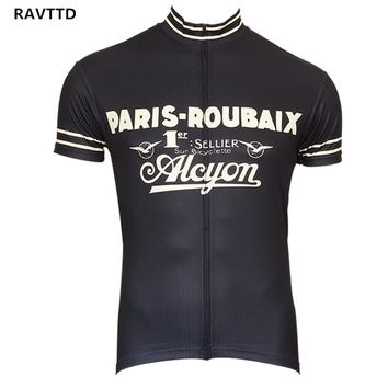Retro Cycling Jersey Short Sleeve Bicycle  Bike Clothing for Men Ropa Ciclismo Summer Cycling Wear Clothes