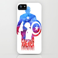 Captain America iPhone & iPod Case by Jon Hernandez