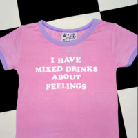 SWEET LORD O'MIGHTY! MIXED DRINKS ABOUT FEELINGS RINGER TEE