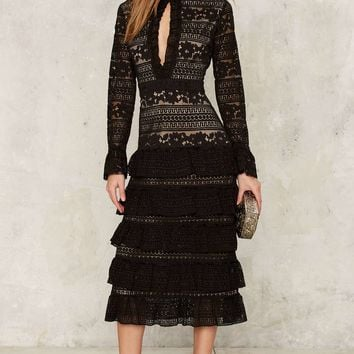 Nasty Gal Dickinson Lace Dress