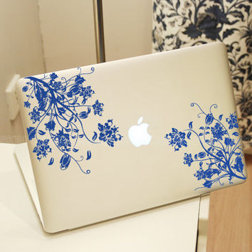 Flower-21853-decal macbook Macbook Decal Pro/Air Sticker Handmade Skin Partial Protector MacBook decal MacBook pro sticker