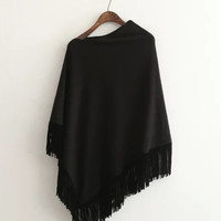 Asymmetric Fringed Cape