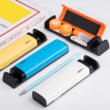 Color contact lenses case for eyes for lenses container contact lens cleaner lens travel mirror travel kit for lenses