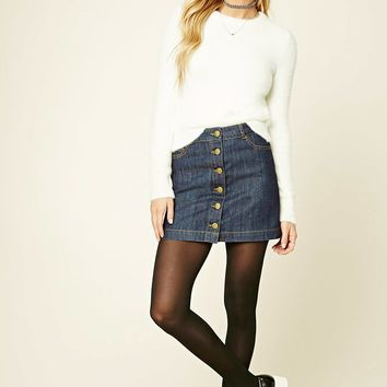 Contemporary Denim Mini Skirt