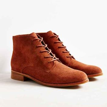 Marnie Suede Lace-Up Boot