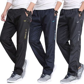 2017 Men Thin Straight Pants Quick Dry Plus Size Trousers XXXL Outdoor Sports Hiking Trekking Pants RM121