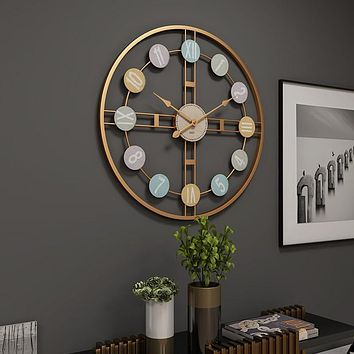 Rustic Silent Round Wall Clock For Decor