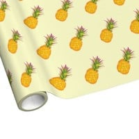 Pineapples - Tropical Yellow Wrapping Paper
