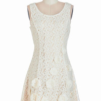 ModCloth Fairytale Short Length Sleeveless A-line Delectable Delight Dress