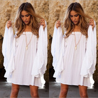hot sale Sexy Women Summer shot Maxi Beach casual Dress Cover Up Dresses = 1956357636