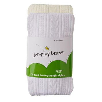 DCCKX8J Jumping Beans 2-pk. Cable-Knit & Solid Tights - Baby Girl Size