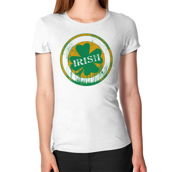 Irish four leaf dripping clover Women's T-Shirt