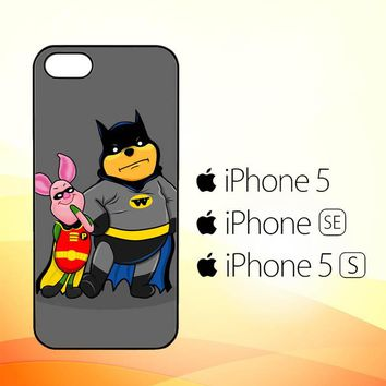 Winnie the Pooh Batman and Piglet robin Z1059  iPhone 5|5S|SE Case