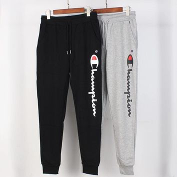 Champion street fashion men and women thin casual pants