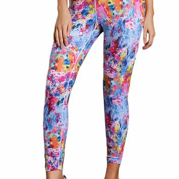 Colorful Tie Dye Print Skintight Yoga Pants