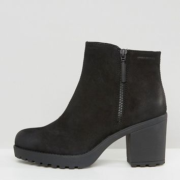 Vagabond Grace Black Leather Ankle Boots at asos.com