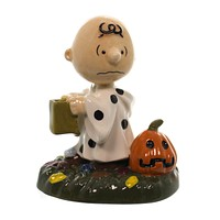Peanuts HALLOWEEN TREAT Ceramic Charlie Brown Pumpkin Trick Or 4044958