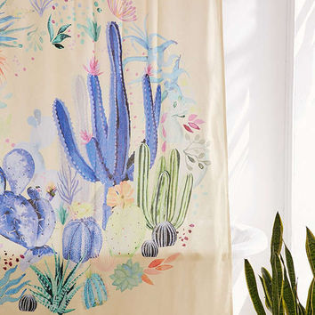 Cactus Terrarium Shower Curtain | Urban Outfitters