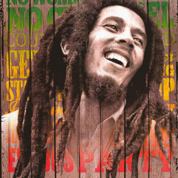 Bob Marley Portrait of Songs Poster 24x36