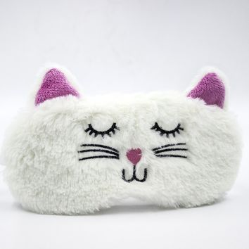 Rejuvenating Luxury Cute & Furry Animal Plush Sleeping Eye Mask