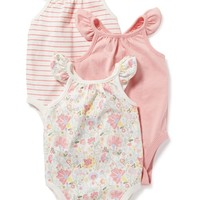 Flutter-Sleeve Bodysuit 3-Pack for Baby | Old Navy