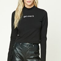 Get Over It Embroidered Top
