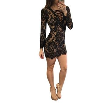 Lexxy Bandage Lace Dress