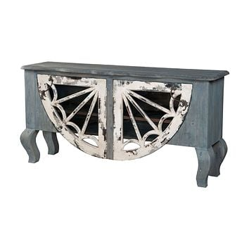 Artifacts Italian Sideboard Vintage Bouleu Blanc,Weathered Grey