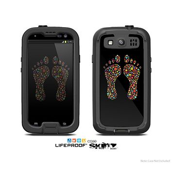 The Vector Floral Feet Icon Collage Skin For The Samsung Galaxy S3 LifeProof Case