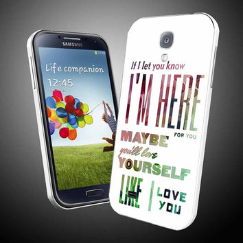 One direction lyric love white rainbow sparkle iPhone 4 / 4S / 5 Case Samsung Galaxy S3 / S4 Case