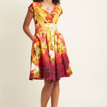 Fab Flourish Cotton Midi Dress