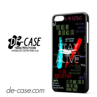 Twenty One Pilots Lyric Collage DEAL-11474 Apple Phonecase Cover For Iphone 5C