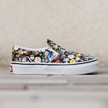 HCXX Vans x Peanuts Classic Slip-On Kids 'The Gang' VA32QIOQX