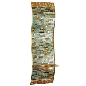 Mosaic Wave Pillar Sconce
