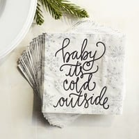 Baby Its Cold Outside Paper Cocktail Napkins