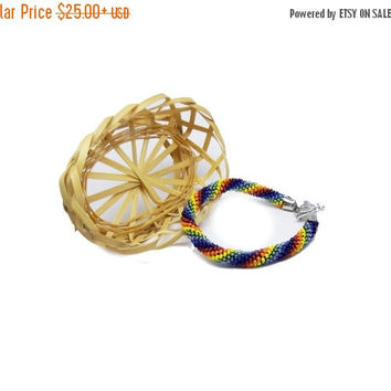 SALE Colorful bracelet colored summer bracelet  Rainbow iridescent rainbow bracelet