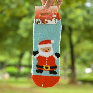 Women 3D Cartoon Christmas Socks