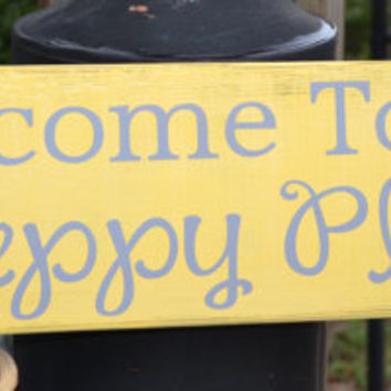 Beach Decor, Lake House Decor, Cabin, Summer Home, Wood Sign, Beach Sign, Home Decor Sign, Yellow & Grey, 29x8