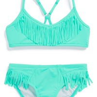 Girl's Billabong 'Sol Searcher' Fringed Two-Piece