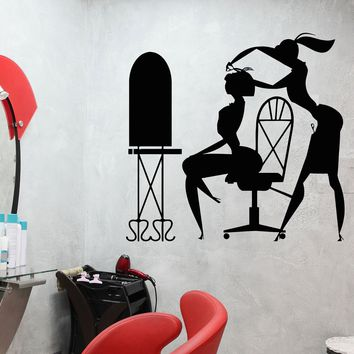 Vinyl Wall Decal Hair Salon Barbershop Stylist Hairdresser Stickers Unique Gift (455ig)