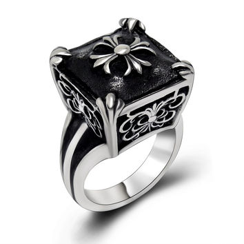 Gift New Arrival Stylish Shiny Jewelry Cross Ladies Korean Titanium Accessory Ring [6544843267]