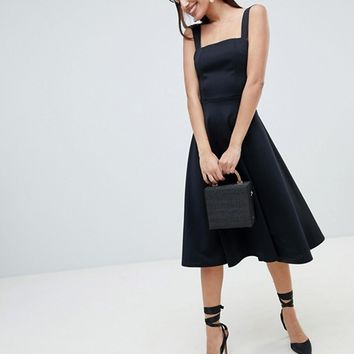 ASOS DESIGN square neck prom dress at asos.com