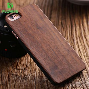 FLOVEME For iPhone 5s Case Retro Natural Bamboo Wood Case For iPhone 5s SE 5 Case Fashion Chic Shockproof Back Wooden Cover