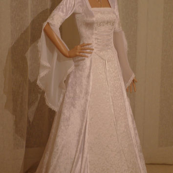 medieval handfasting renaissance wedding fantasy dress custom made