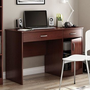 Modern Home Office Computer Desk in Royal Cherry Finish