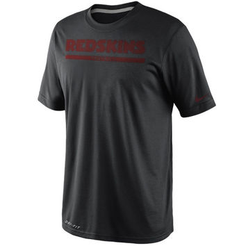 Nike Washington Redskins Dri-FIT Legend Elite Font Sideline Performance T-Shirt - Black
