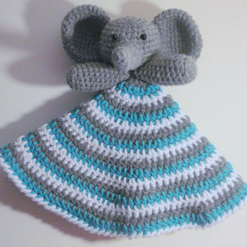 Elephant Lovey PDF Crochet Pattern - INSTANT DOWNLOAD